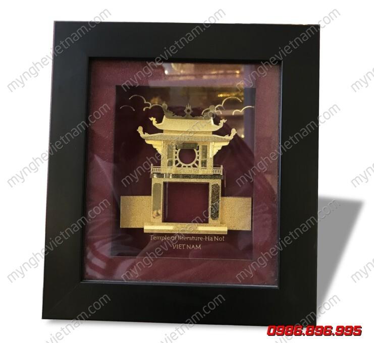 Tranh khuê văn các mạ vàng 24K để bàn làm quà tặng văn hóa