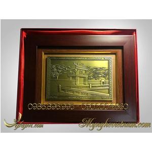 Tranh quà tặng Khuê Văn Các bằng đồng 20x26cm