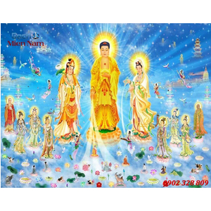 Tranh Tam Thế Phật HP03