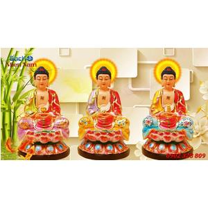 Tranh Tam Thế Phật HP06