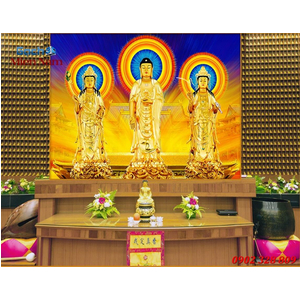 Tranh Tam Thế Phật HP09