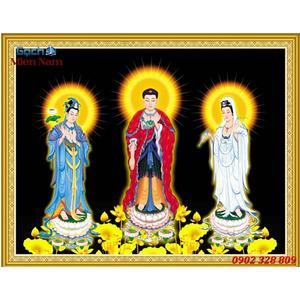 Tranh Tam Thế Phật HP13
