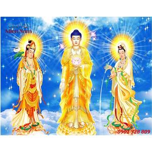 Tranh Tam Thế Phật HP15