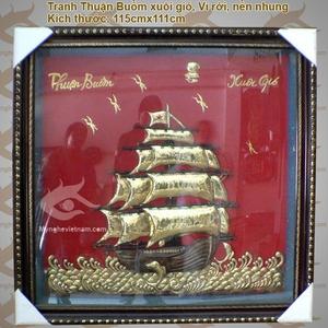 Tranh thuận buồm xuôi gió,Tranh thuyền buồm Nhất định thuận lợi, Tranh phong Thủy