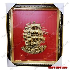 Tranh thuyền buồm mạ vàng 24k cao cấp
