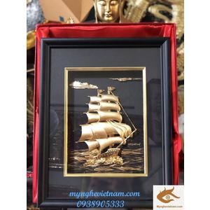 Tranh thuyền buồm mạ vàng cao cấp,quà tặng tết 2020