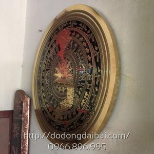 Mặt trống đồng ăn mòn đk 90cm hình bản đồ Việt Nam
