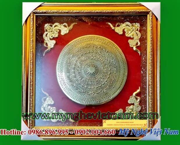 Tranh trống đồng gò nổi kt 40x40cm