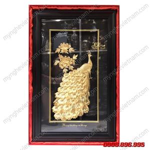 Tranh uyên ương dát vàng làm quà mừng đám cưới lễ kỷ niệm ngày cưới