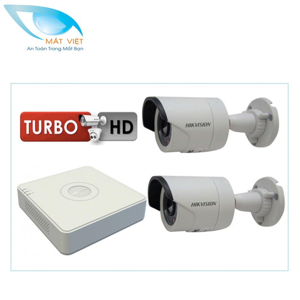 Trọn bộ 2 camera HD hãng HIKVISION