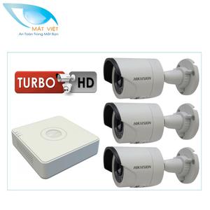 Trọn bộ 3 camera HD hãng HIKVISION