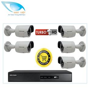 Trọn bộ 5 camera HD hãng HIKVISION