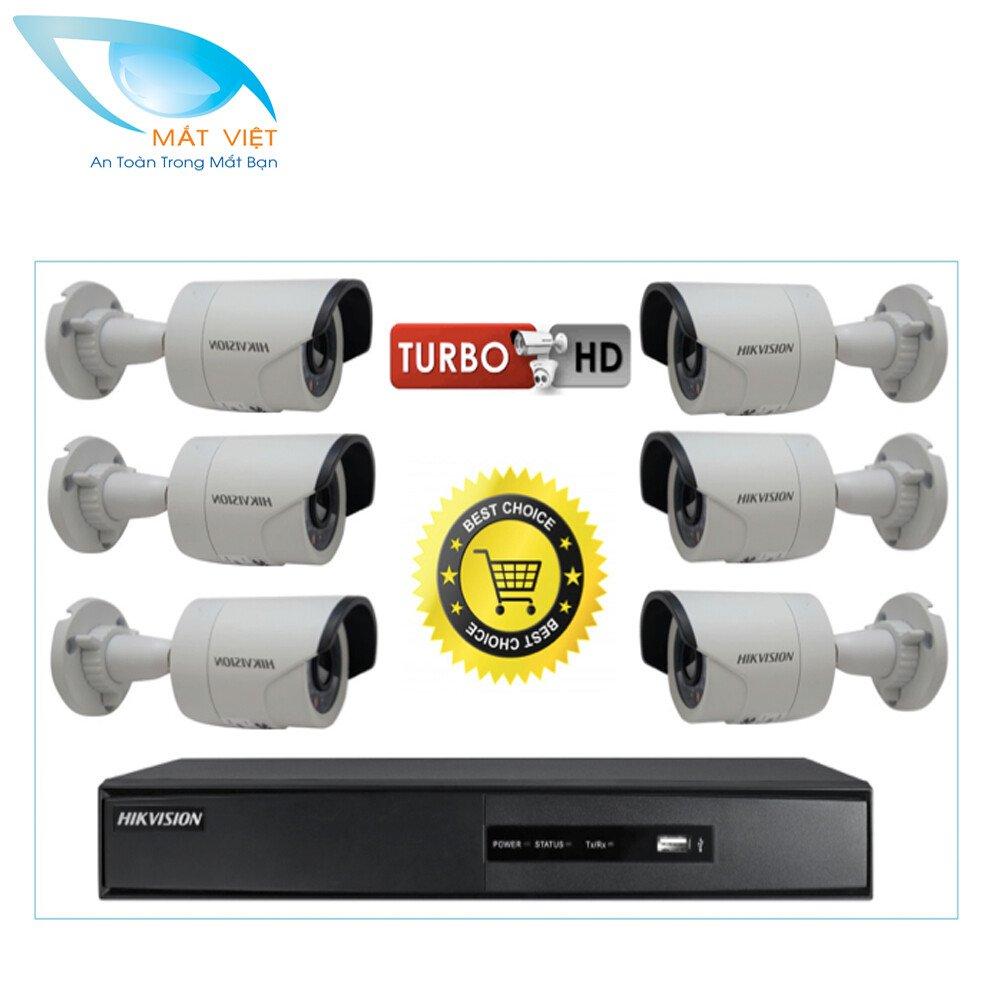 Trọn bộ 6 camera HD hãng HIKVISION