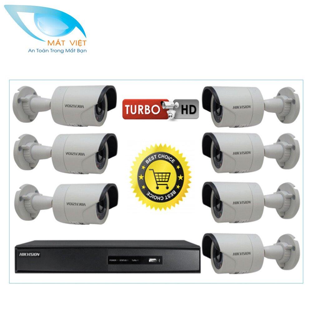 Trọn bộ 7 camera HD hãng HIKVISION