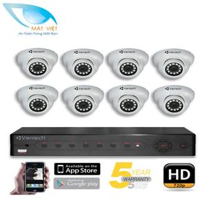Trọn bộ 8 Camera hồng ngoại HD Vantech