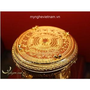Trống đồng dát vàng 24k đk 8cm