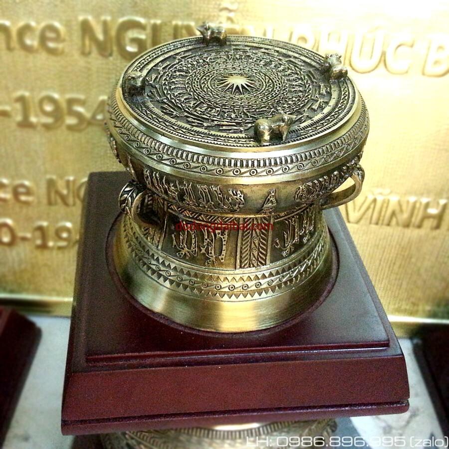 Trống đồng quà tặng dk 8cm trống đồng Đông Sơn Ngọc Lũ Việt Nam