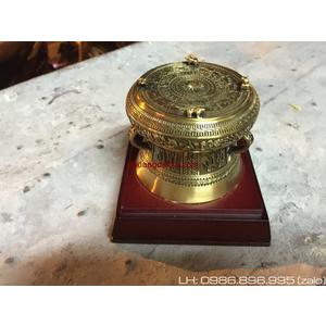Trống đồng quà tặng dk 9cm mô hình trống đồng Đông Sơn để bàn