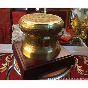 Trống đồng quà tặng ĐK 20cm bán tại đồ đồng Đại Bái