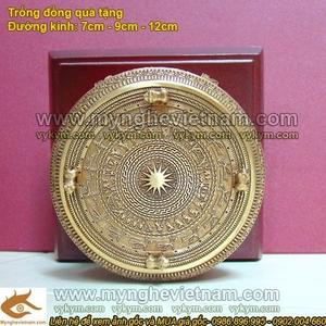 Trống đồng ĐK 9cm, quà tặng mô hình trống đồng
