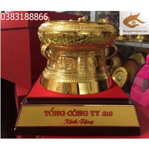 Trồng đồng mạ vàng 24k,quà tặng cao cấp 12cm