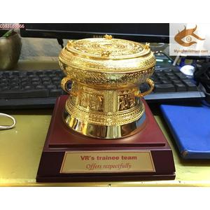 Trống đồng mạ vàng dk 12cm quà tặng hot nhất hiện nay