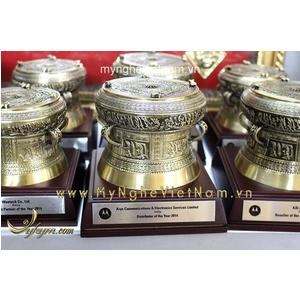 Trống đồng quà tặng DK 10cm mô hình Đông Sơn Ngọc Lũ Việt Nam.
