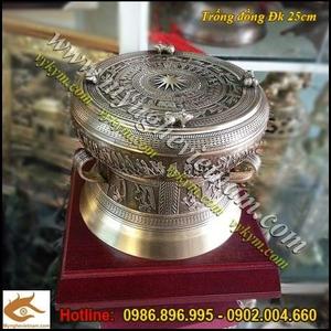 Trống đồng quà tặng ĐK 25cm, Trống Đồng Việt Nam,quà lưu niệm người nước ngoài