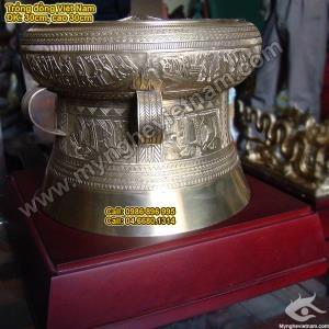 Trống đồng quà tặng ĐK 25cm, Trống Đồng Việt Nam quà lưu niệm sự kiện