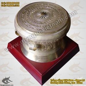 Trống đồng quà tặng ĐK 30cm, mô hình trống Đông Sơn