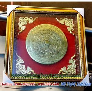 Tranh mặt trống đồng quà tặng 38x38cm
