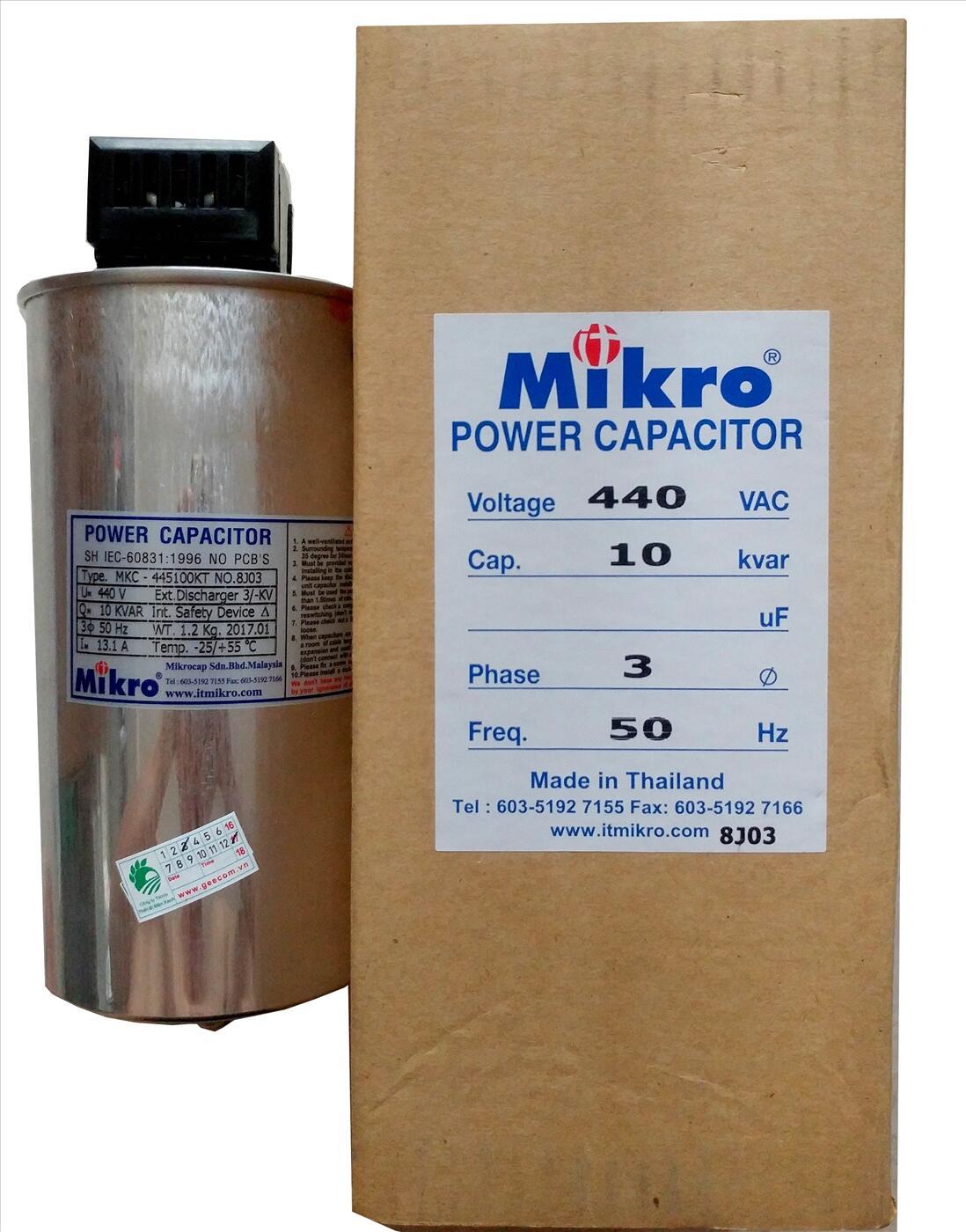 Tụ bù khô Mikro 3P 440V 10Kvar