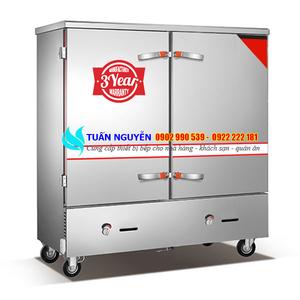 Tủ cơm công nghiệp 24 khay gas
