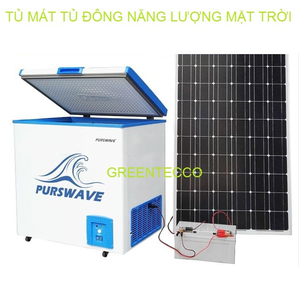 Tủ đông thực phẩm năng lượng mặt trời 12V24V 208 lít