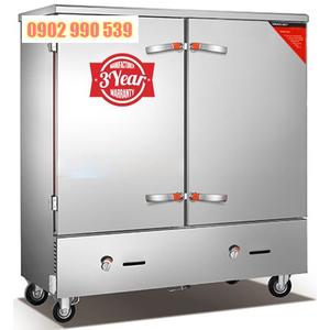 Tủ nấu cơm công nghiệp 24 khay dùng gas