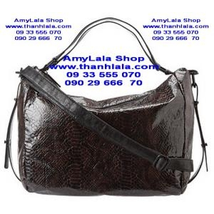 Túi BCBGeneration màu Nâu Chocolate viền đen nổi 3D (Made in USA) - 0933555070 - 0902966670 -