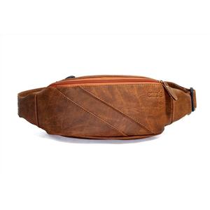 Túi da đeo ngực CNT unisex TĐX40 cá tính Bò Đậm