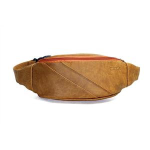 Túi da đeo ngực CNT unisex TĐX40 cá tính Bò Lợt