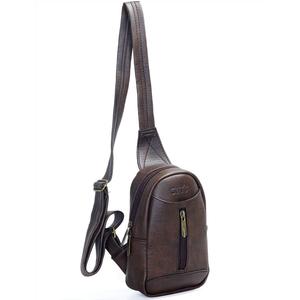 Túi đeo chéo unisex CNT MQ22 cá tính Nâu