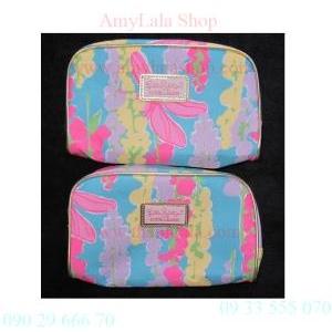 Túi đựng mỹ phẩm Estee Lauder hoa văn tươi trẻ - 0902966670 - 0933555070