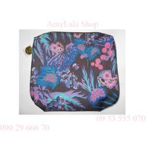 Túi đựng mỹ phẩm Estee Lauder vải hoa - 0902966670 - 0933555070