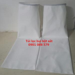 Túi lọc bụi bột sắt  Túi lọc bụi Polyester 500g/m2