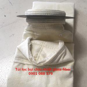 Tổng hợp túi lọc bụi chịu nhiệt sợi thủy tinh   Túi lọc bụi glass fiber tại xưởng Gia Phạm