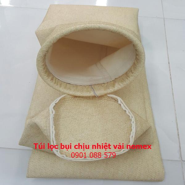 Túi lọc bụi chịu nhiệt vải nomex