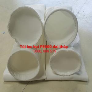 Túi lọc bụi PE500 miệng túi vòng thép