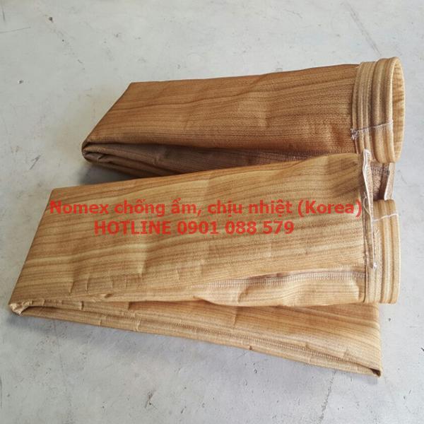 Túi lọc bụi chịu nhiệt, chống ẩm vải nomex Korea (Hàn Quốc)