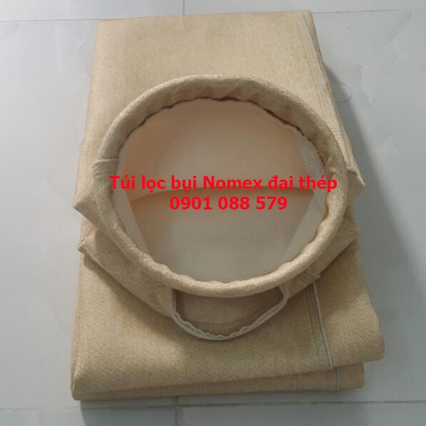 Túi lọc bụi chịu nhiệt vải nomex Trung Quốc