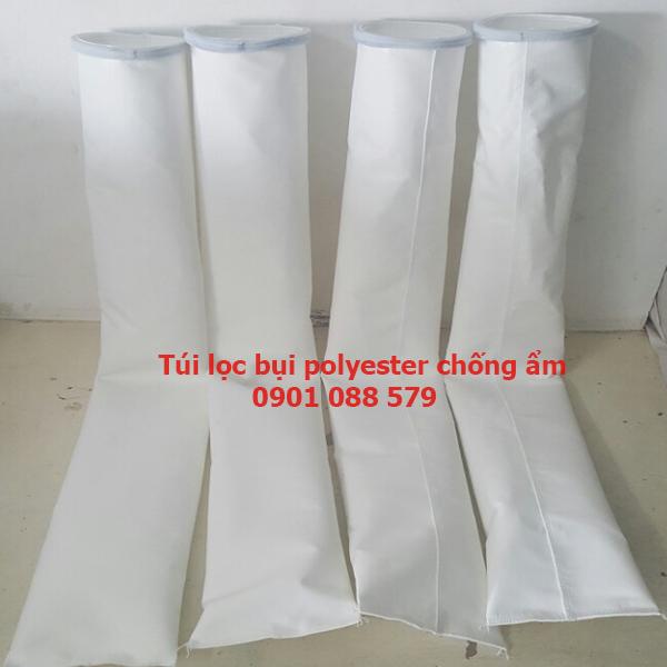Túi lọc bụi Polyester chống ẩm   Túi lọc bụi nhà máy sản xuất gạch men