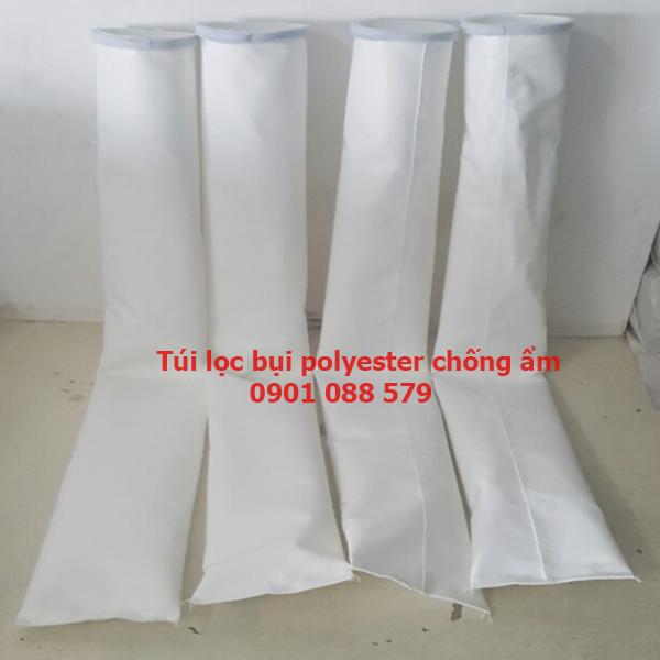 Túi lọc bụi Polyester chống ẩm   Túi lọc bụi nhà máy gạch men