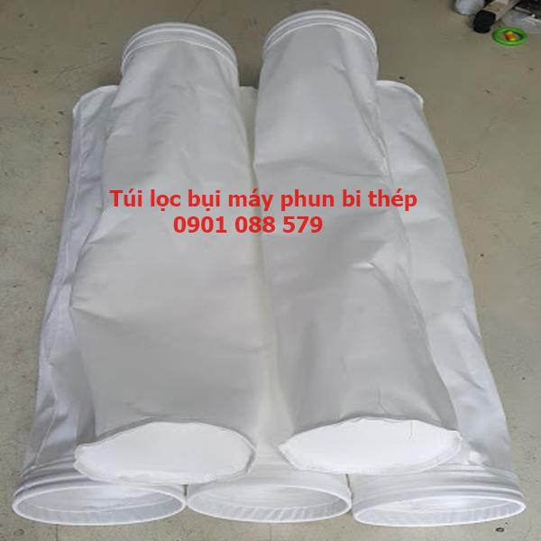 Túi lọc bụi polyester máy phun bi thép